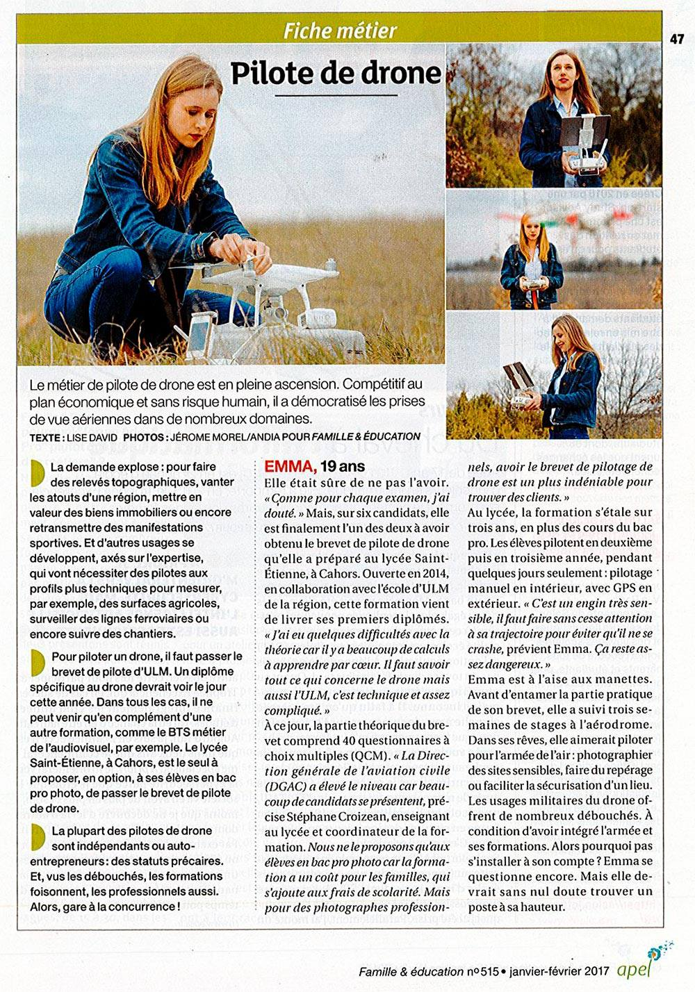 article_telepilote_drone_bac_professionnel_photographe_lycee_st_etienne_cahors